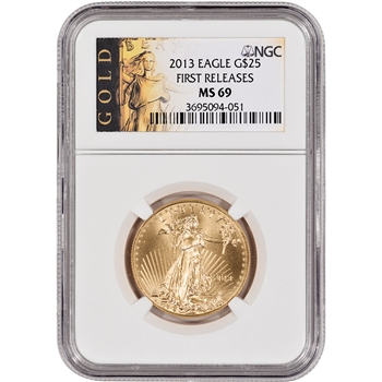 2013 American Gold Eagle (1/2 oz) $25 - NGC MS69 - First Releases - Gold Label