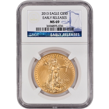 2013 American Gold Eagle (1 oz) $50 - NGC MS69 - Early Releases
