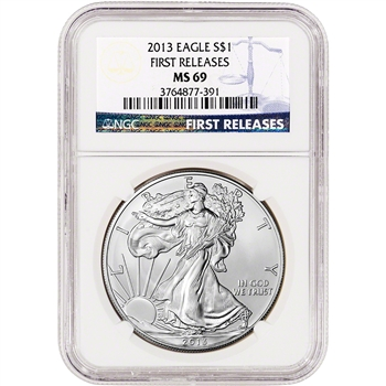 2013 American Silver Eagle - NGC MS69 First Releases