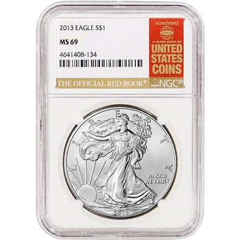 2013 American Silver Eagle - NGC MS69 - Red Book Label