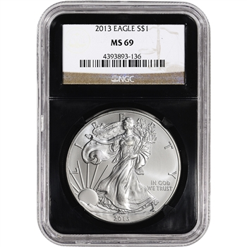 2013 American Silver Eagle - NGC MS69 - Retro Black Core Holder