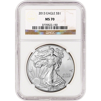 2013 American Silver Eagle - Certified NGC MS70