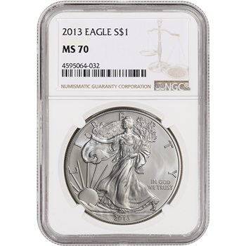 2013 American Silver Eagle - NGC MS70