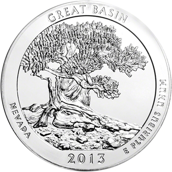 2013 ATB Great Basin Silver (5 oz) 25C - BU