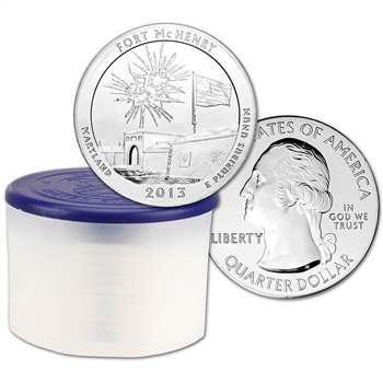 2013 ATB Fort McHenry Silver (5 oz) 25C - BU - 10 Coins in Mint-Issued Tube