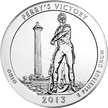 2013 ATB Perry's Peace Silver (5 oz) 25C - BU