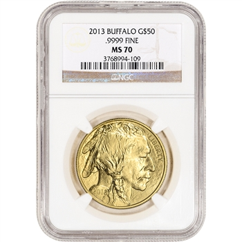 2013 American Gold Buffalo 1 oz $50 - NGC MS70
