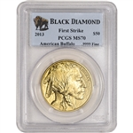 2013 American Gold Buffalo (1 oz) $50 - PCGS MS70 - First Strike - Black Diamond