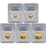 2013 China Gold Panda - 5-pc Year Set - PCGS MS70