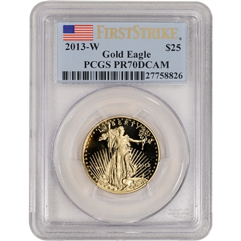 2013-W American Gold Eagle Proof (1/2 oz) $25 - PCGS PR70 DCAM - First Strike