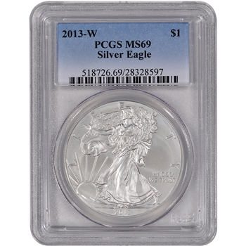 2013-W American Silver Eagle Uncirculated Burnished - PCGS MS69