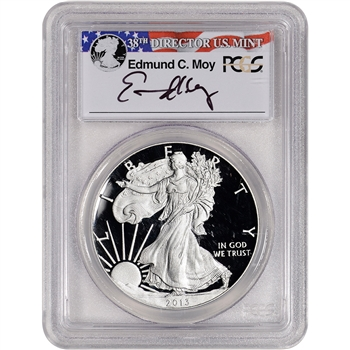 2013-W American Silver Eagle Proof - PCGS PR69 DCAM Moy Signed