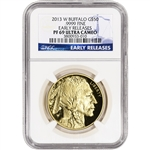 2013-W American Gold Buffalo Proof (1 oz) $50 - NGC PF69UCAM - Early Releases