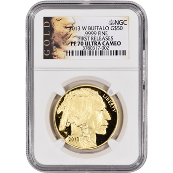 2013-W American Gold Buffalo Proof (1 oz) $50 - NGC PF70UCAM - First Releases