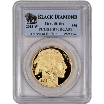 2013-W American Gold Buffalo Proof (1 oz) $50 - PCGS PR70DCAM - First Strike