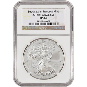 2014-(S) American Silver Eagle - NGC MS69