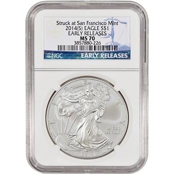 2014-(S) American Silver Eagle - NGC MS70 - Early Releases