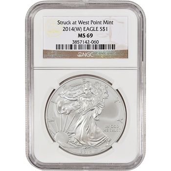 2014-(W) American Silver Eagle - NGC MS69