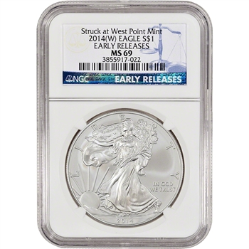 2014-(W) American Silver Eagle - NGC MS69 - Early Releases