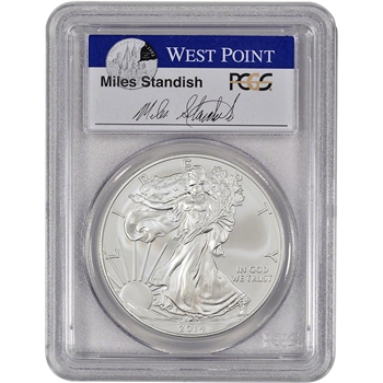 2014-(W) American Silver Eagle - PCGS MS69 - First Strike - Standish Signed