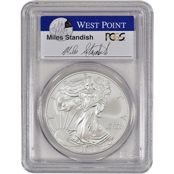 2014-(W) American Silver Eagle - PCGS MS70 - First Strike - Standish Signed