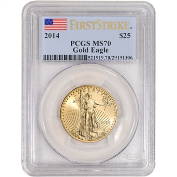 2014 American Gold Eagle (1/2 oz) $25 - PCGS MS70 - First Strike