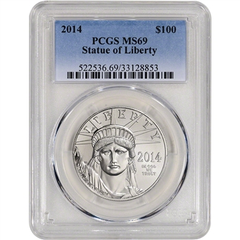 2014 American Platinum Eagle (1 oz) $100 - PCGS MS69