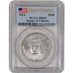 2014 American Platinum Eagle (1 oz) $100 - PCGS MS69 - First Strike