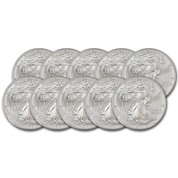 2014 American Silver Eagle (1 oz) $1 - Ten (10) Coins