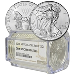 Roll of 20 - 2014 American Silver Eagle - NGC Gem Uncirculated