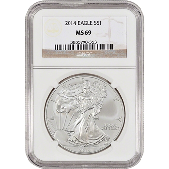 2014 American Silver Eagle - NGC MS69