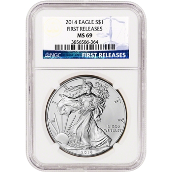 2014 American Silver Eagle - NGC MS69 - First Releases