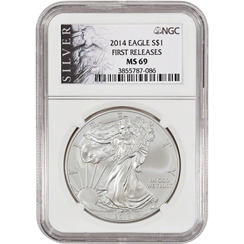 2014 American Silver Eagle - NGC MS69 - First Releases - Silver Label