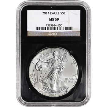 2014 American Silver Eagle - NGC MS69 - Retro Black Core Holder