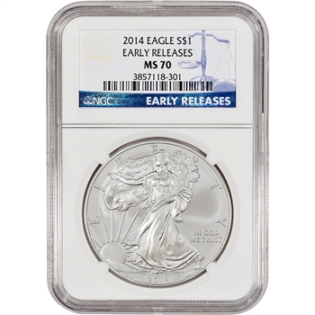 2014 American Silver Eagle - NGC MS70 - Early Releases