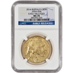 2014 American Gold Buffalo (1 oz) $50 - NGC MS70 - Early Releases