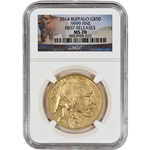 2014 American Gold Buffalo (1 oz) $50 - NGC MS70 - First Releases -Buffalo Label