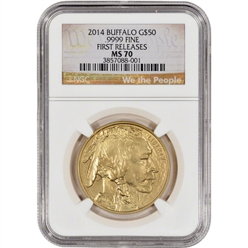 2014 American Gold Buffalo (1 oz) $50 - NGC MS70 - First Releases We the People