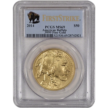 2014 American Gold Buffalo (1 oz) $50 - PCGS MS69 - First Strike - Buffalo Label