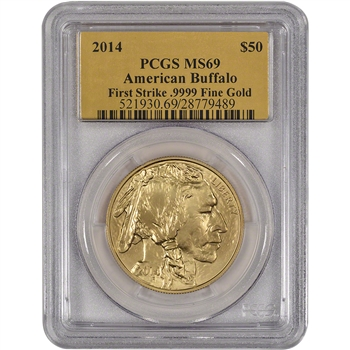 2014 American Gold Buffalo (1 oz) $50 - PCGS MS69 - First Strike - Gold Foil