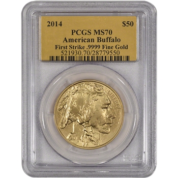 2014 American Gold Buffalo (1 oz) $50 - PCGS MS70 - First Strike - Gold Foil