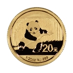 2014 China Gold Panda (1/20 oz) 20 Yuan - BU