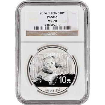 2014 China Silver Panda (1 oz) - NGC MS70