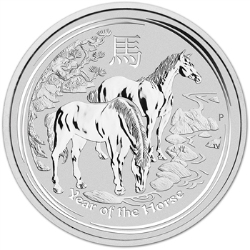 2014 P Australia Silver Lunar Series II Year of the Horse 1 oz $1 - BU