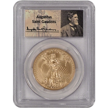 2014-W American Gold Eagle (1 oz) $50 Uncirculated - PCGS MS70 - FS - St Gaudens