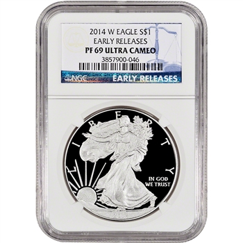 2014-W American Silver Eagle Proof - NGC PF69 UCAM - Early Releases