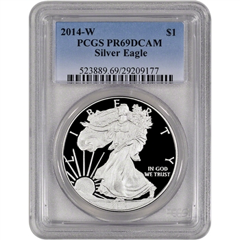 2014-W American Silver Eagle Proof - PCGS PR69 DCAM