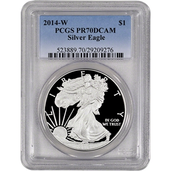 2014-W American Silver Eagle Proof - PCGS PR70 DCAM