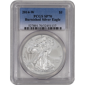 2014-W American Silver Eagle Burnished - PCGS SP70