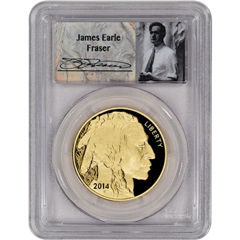 2014-W American Gold Buffalo Proof (1 oz) $50 - PCGS PR69 - First Strike- Fraser